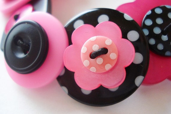 Button Bracelet- My Emo Heart Cries Bubblegum Tears