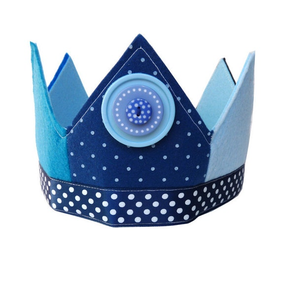 Crown- Child's Felt Birthday Dress Up - King Neptune
