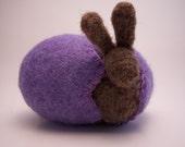 Easter Bunny  Wool Felt Easter Egg / lavender spring gift ecofriendly Waldorf toy