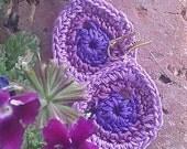 RESERVED for Kelley - Crocheted Earrings