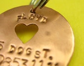 Hand Stamped Pet Tag--Donation