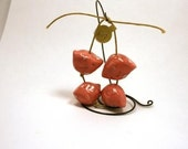 Pink Bird Bead Set