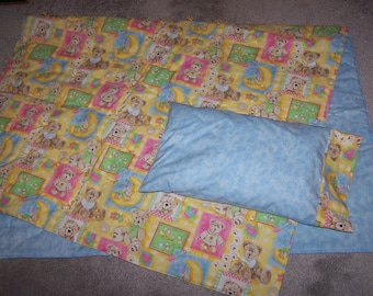 New BOYD'S Teddy Bears crib quilt and pillow