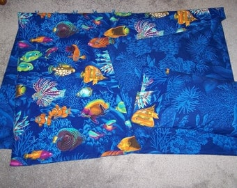 New UNDER the SEA theme crib quilt and pillow