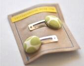Modern Avocado Button Clippies