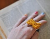Lovely Little Knit Bow Ring for kisslockXO