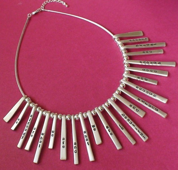 Zpaced Out Quote Fork Tines Silverware Necklace - Silverware Jewelry