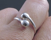 Sterling Silver Ring / Upcycled Silver Adjustable Band / Simple Modern Minimalist Eco Friendly