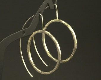 Modern Silver Hoops * Unique Silver Earrings * Different Minimalist Silver Earrings * Hammered Hoops * Boho Silver Hoops * Argentium Hoops