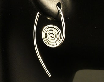 Sterling Silver Earrings / Spiral Design / Sterling Simplicity / Unique and Simple Classic Beauty