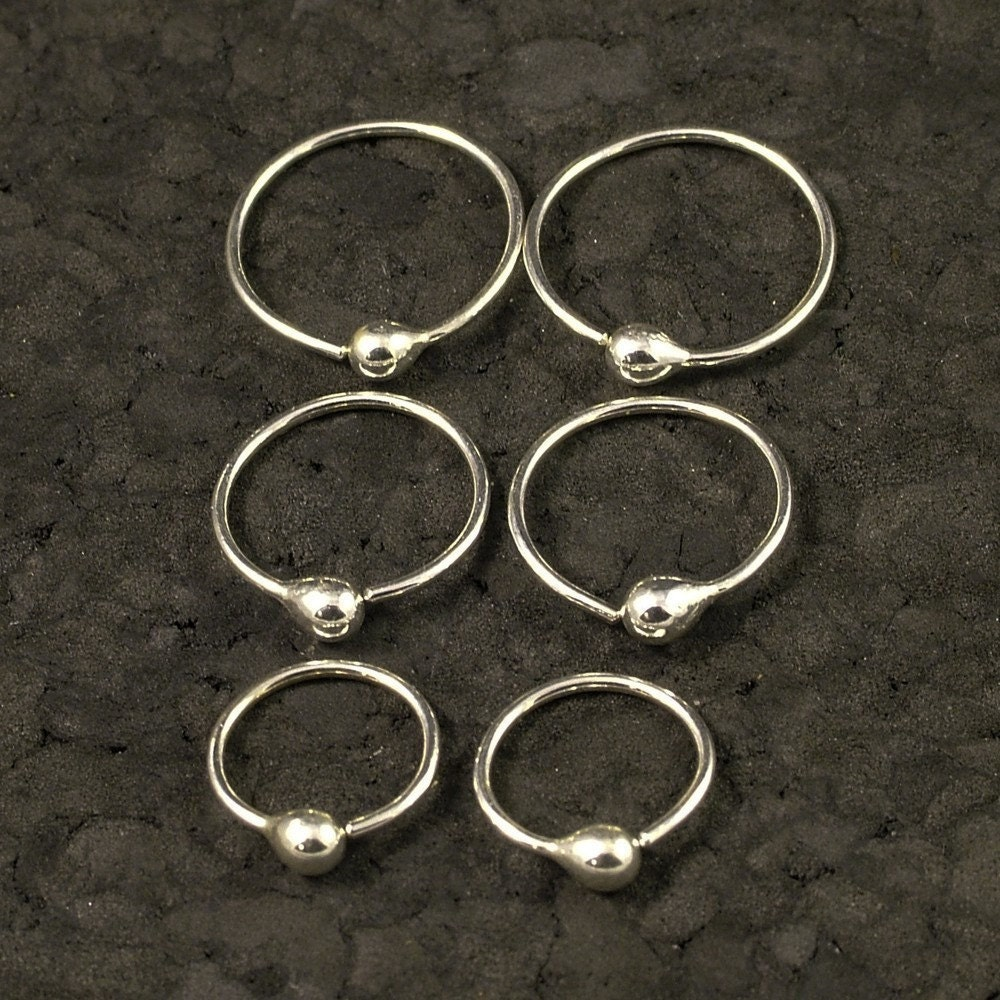 small silver hoop earrings tiny little hoops customize to. Black Bedroom Furniture Sets. Home Design Ideas