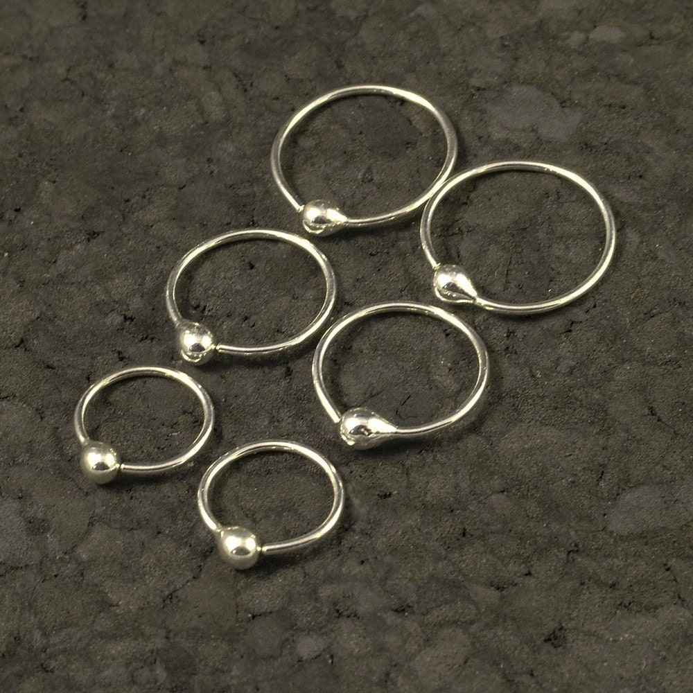 Small Silver Hoop Earrings Tiny Little Hoops By MetalRocks