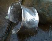 Bracelet wide sterling silver cuff
