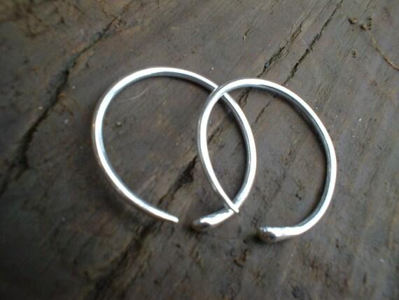 snake hoops - sterling silver gauged