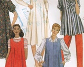 Vintage 1981 McCall's 7838 Sewing Pattern Misses' Maternity Dress or Blouse, Jumper or Top and Pants Size 10 Bust 32-1/2