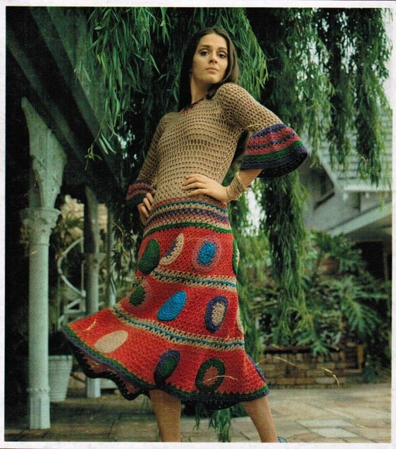 1970s Gypsy Dress Pdf Crochet Pattern