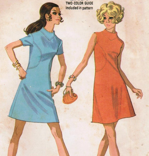 1960s McCall's 2226 Vintage Sewing Pattern Misses' Dress Size 16 Bust 38