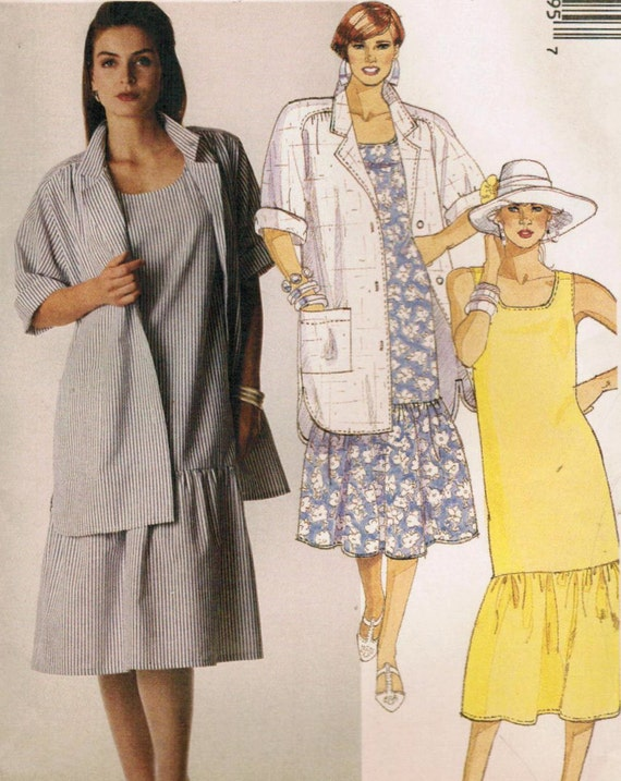 1980s McCall's 4099 UNCUT Vintage Sewing Pattern Misses' Shirt and Dress Size Extra Large (22-24)