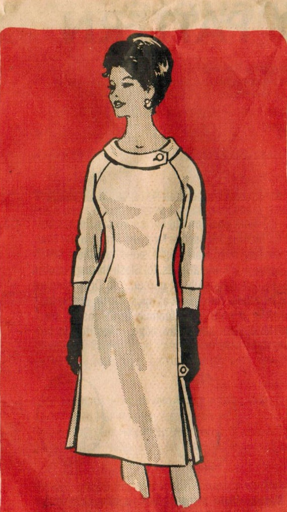 1960s Mail Order 4797 Vintage Sewing Pattern Women's Dress Size 36 Bust 38
