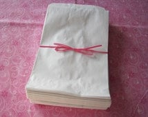 White Paper Bags, Kraft Bags, Gift Bags, Party Favor Bags, Merchandise Bags, Flat Paper Bags 6x9 Pack 50