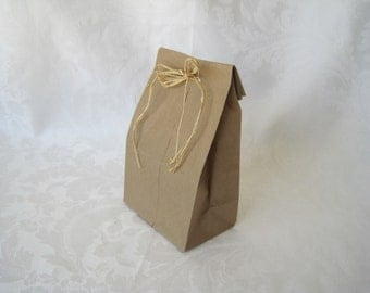 Paper Bags, Lunch Bags, Gusset Paper Bags, Kraft Bags, Brown Paper Bags, Favor Bags, Gift Bags, Small Paper Bags 4x2.5x8 Pack 50
