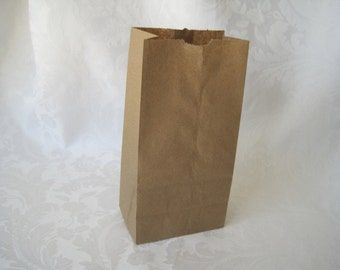 Paper Bags, Gift Bags, Kraft Paper Bags, Lunch Bags, Small Paper Bags, Brown Paper Bags, Party Favor Bags, Gusset Paper Bags 4x2.5x8 Pack 50