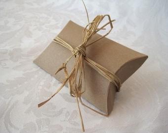 20 Gift Boxes, Jewelry Gift Box, Kraft Boxes, Jewelry Gift Boxes, Pillow Boxes, Wedding Favor Boxes, Bridesmaid Gift Box 3.25x3x1