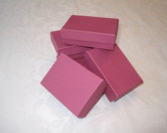 Gift Boxes, Jewelry Gift Boxes, Kraft Boxes, Favor Boxes, Small Boxes, Pink Gift Boxes 3 x 2 1/8 x 1  Pack 10