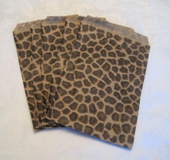Paper bags gift animal print cheetah leopard