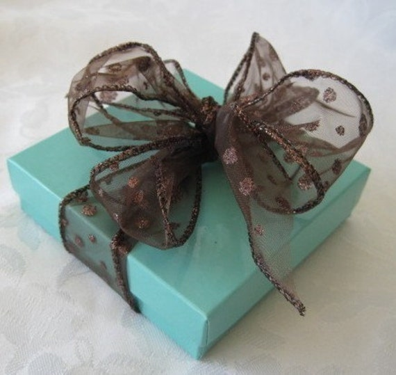 Jewelry Gift Boxes Teal Blue 3.5 x 3.5 x 1 Cotton Filled Set of 10