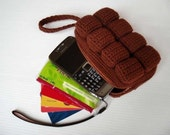 Crochet Pattern - CHOCOLATE BAR PURSE - For cell phone / money / others  (00408)