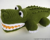 Crochet Pattern - ALLIGATOR - Toys / PDF (00465)