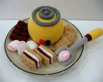 Crochet Pattern - SMORES and KIT- Toys / Playfood - PDF  (00376)