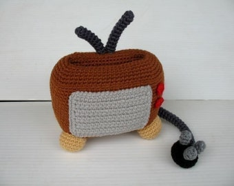 Crochet Pattern - Cell Phone Holder - TELEVISION  (00418)