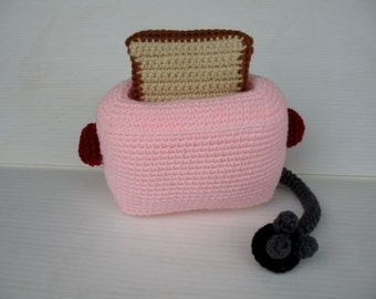 Crochet Pattern - Cell Phone Holder - TOASTER  (00373)