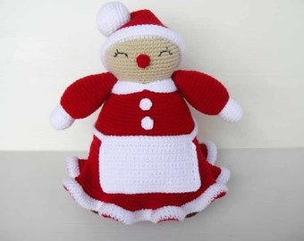 Crochet Pattern - MRS CLAUS - Toys / PDF / Christmas  (00396)