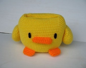 Crochet Pattern - Cell Phone Holder - DUCK  (00374)