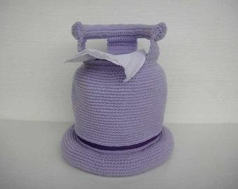 Crochet Patttern - GAS CYLINDER - Tissue Roll Holder - PDF  (00402)