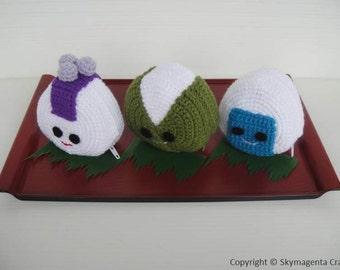 Crochet Pattern - ONIGIRI purse 2 - PDF (00352)