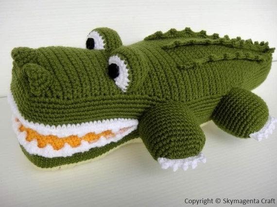 Crochet Pattern - ALLIGATOR - Toys / PDF (00465)