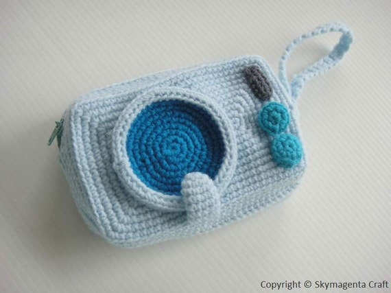 Crochet Pattern - WASHING MACHINE PURSE - For cell phone / money / others in pdf  (00400)