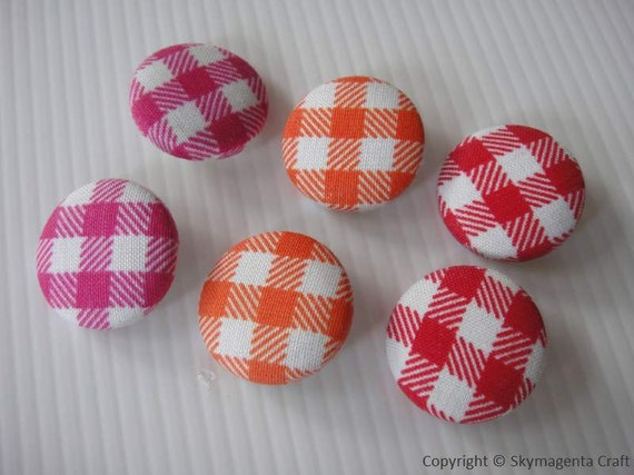 Handmade Fabric Covered Button 22 mm - Pack 3