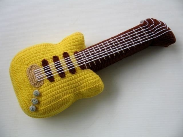 Free Pattern Crochet Guitar : Crochet Pattern ELECTRIC GUITAR Toys PDF 00447