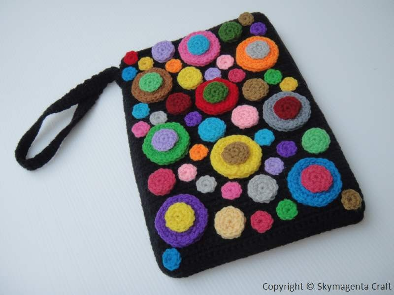 Crochet Pattern COLORFUL BUBBLE Kindle Cover / Sleeve
