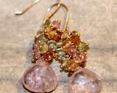 Rose Adagio Gemstone Earrings