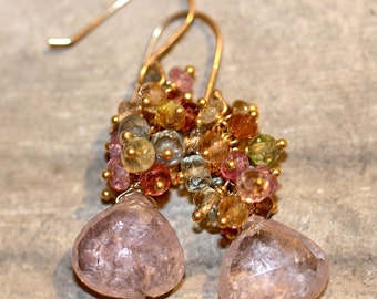 Rose Adagio Gemstone Earrings
