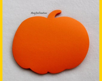 Handcrafted Pumpkin Shaped Notepad in Orange