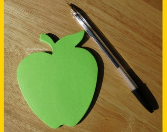 Handcrafted Apple Shaped Notepad Lime Green