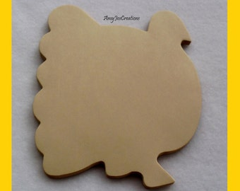 Handcrafted Turkey Shaped Notepad in Beige