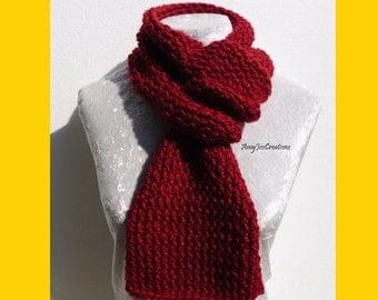 Maroon Knitted Scarflette